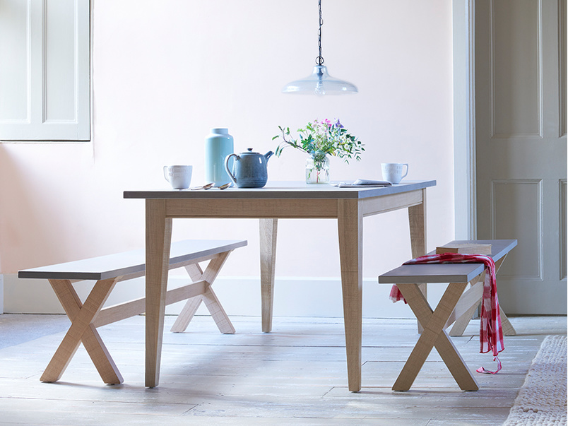 Conker concrete resin top kitchen table