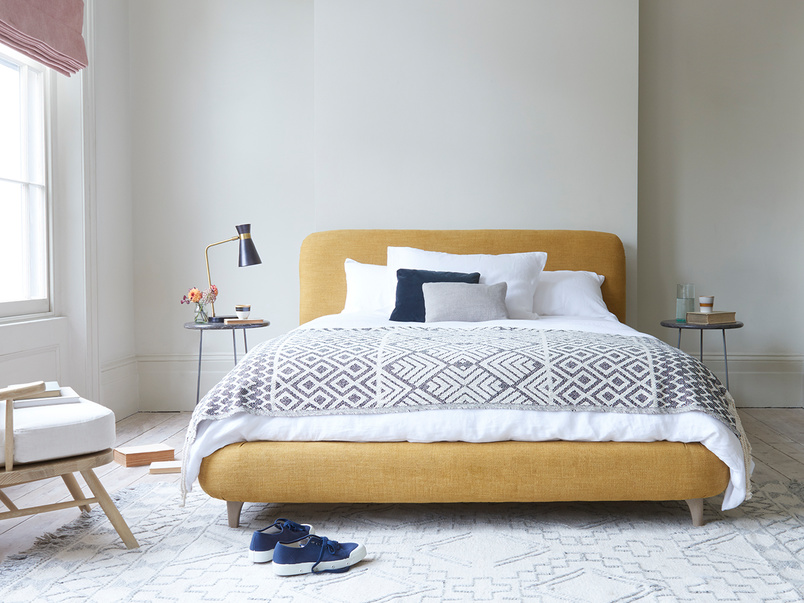 Cookie large upholstered comfy bed