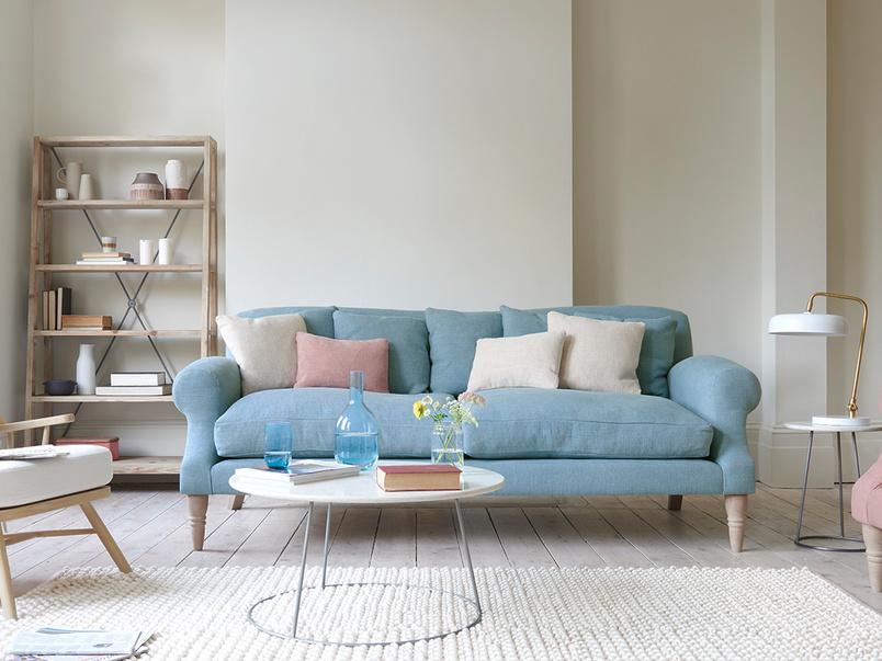 Crumpet comfy sofa with tall legs