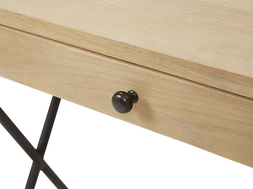 Jotter slim line wooden desk drawer detail