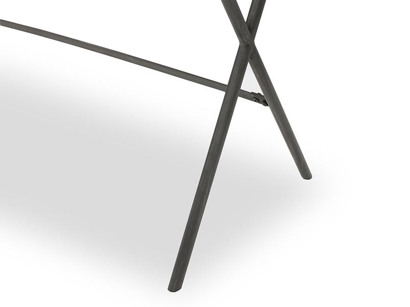 Jotter slim line wooden desk metal leg detail