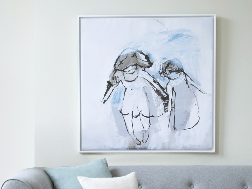 Hermit Girls canvas print by Ben Lowe with a thick white wooden frame.