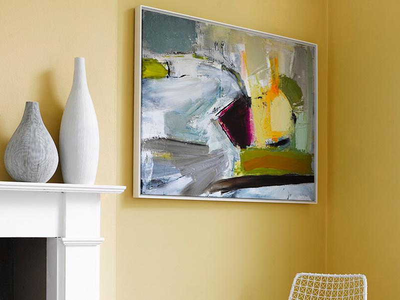 Ben Lowe's framer art Helter Skelter framed canvas