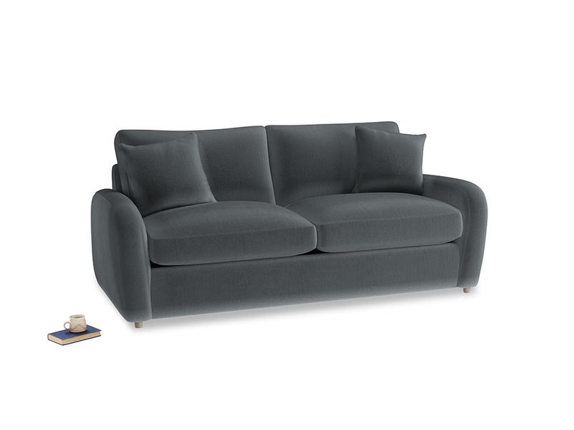 Medium Easy Squeeze Sofa Bed in Dark grey Clever Deep Velvet
