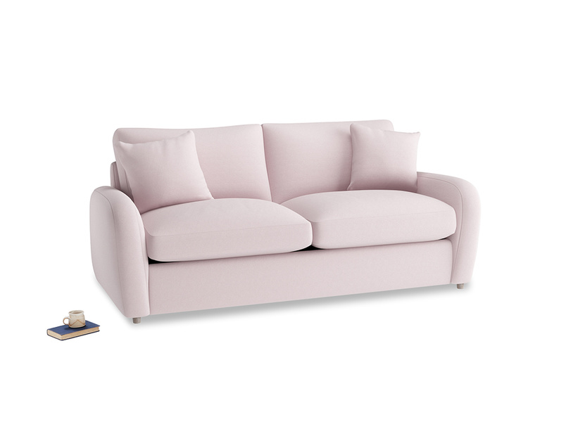 Medium Easy Squeeze Sofa Bed in Dusky blossom washed cotton linen