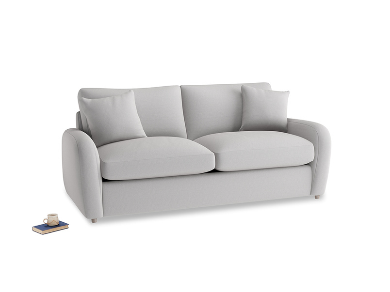 Medium Easy Squeeze Sofa Bed in Flint brushed cotton