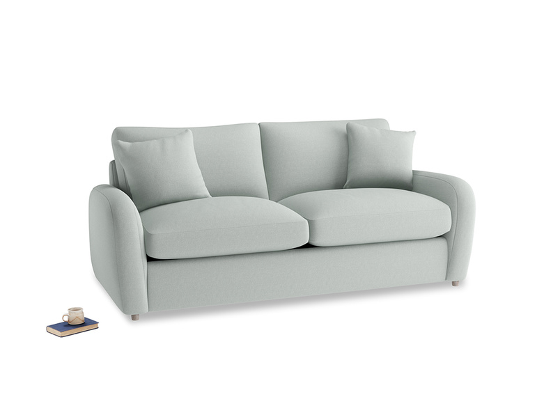 Medium Easy Squeeze Sofa Bed in French blue brushed cotton