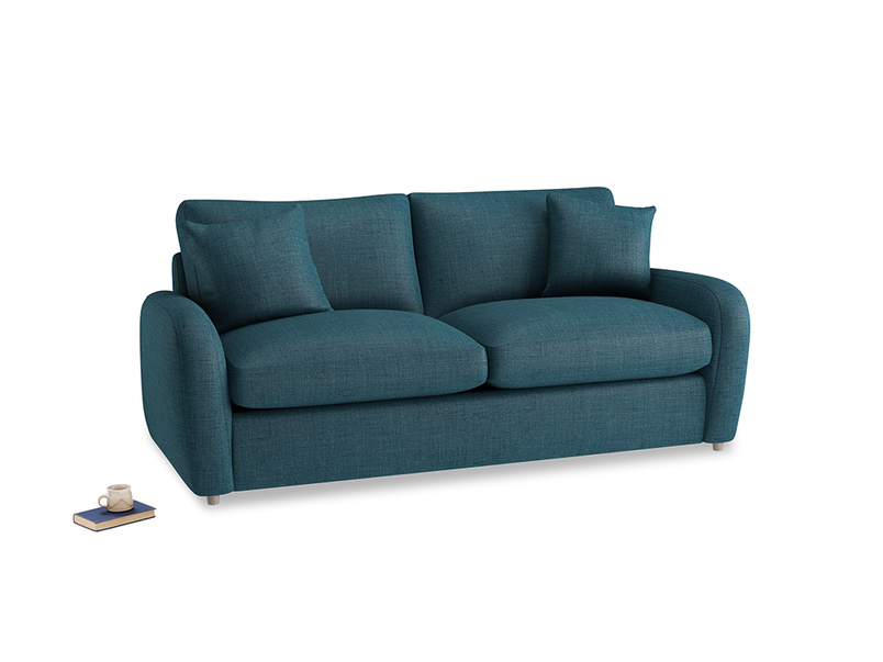 Medium Easy Squeeze Sofa Bed in Harbour Blue Vintage Linen
