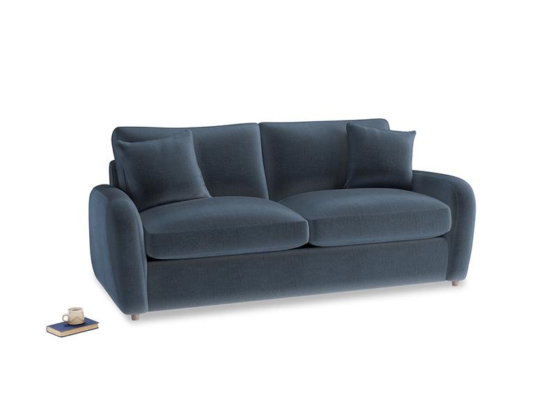 Medium Easy Squeeze Sofa Bed in Liquorice Blue clever velvet