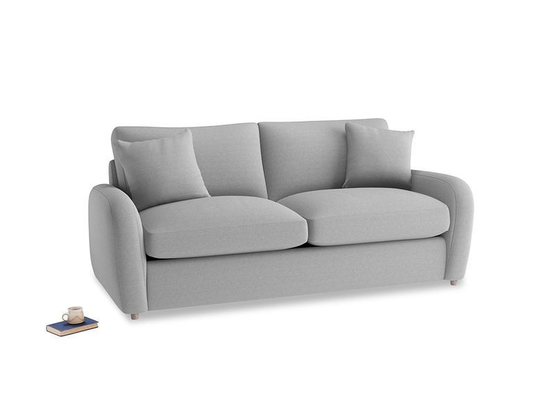 Medium Easy Squeeze Sofa Bed in Magnesium washed cotton linen