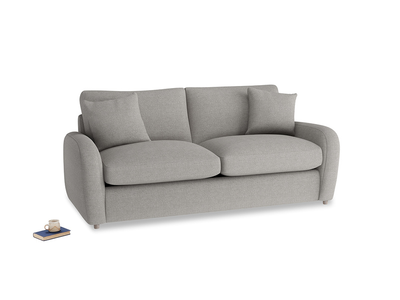 Medium Easy Squeeze Sofa Bed in Marl grey clever woolly fabric
