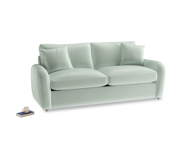 Medium Easy Squeeze Sofa Bed in Mint clever velvet