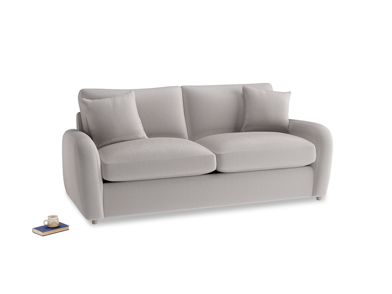 Medium Easy Squeeze Sofa Bed in Mouse grey Clever Deep Velvet