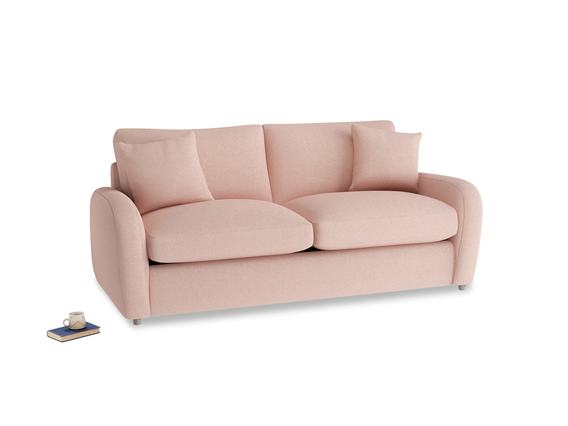 Medium Easy Squeeze Sofa Bed in Pale Pink Clever Woolly Fabric