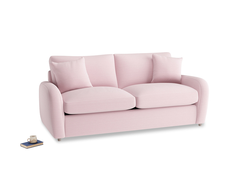 Medium Easy Squeeze Sofa Bed in Pale Rose vintage linen