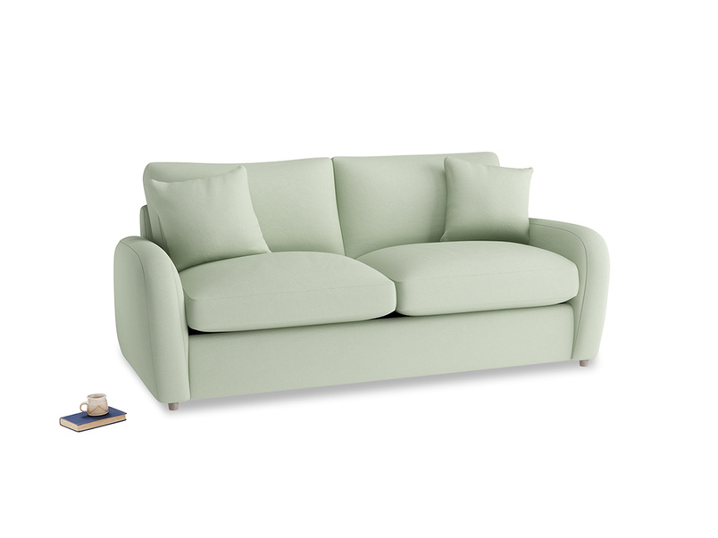 Medium Easy Squeeze Sofa Bed in Powder green Clever Linen