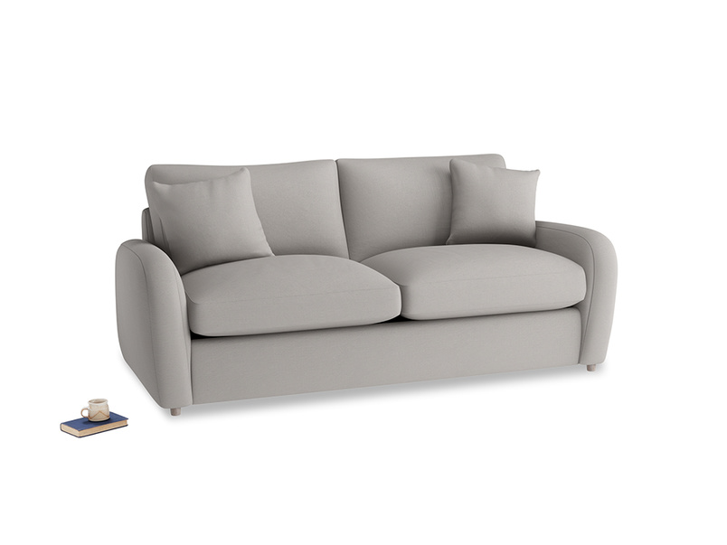 Medium Easy Squeeze Sofa Bed in Safe grey clever linen