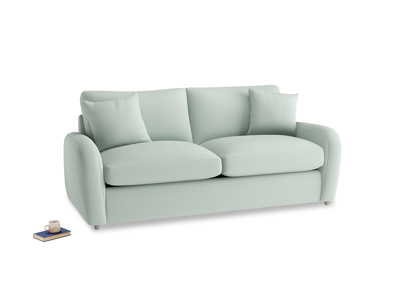 Medium Easy Squeeze Sofa Bed in Sea surf clever cotton