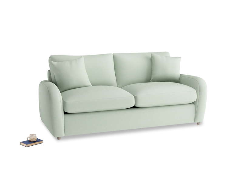 Medium Easy Squeeze Sofa Bed in Soft Green Clever Softie