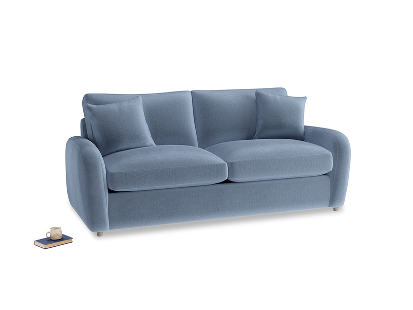 Medium Easy Squeeze Sofa Bed in Winter Sky clever velvet