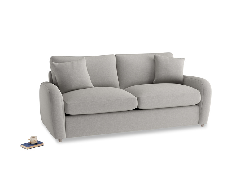 Medium Easy Squeeze Sofa Bed in Wolf brushed cotton