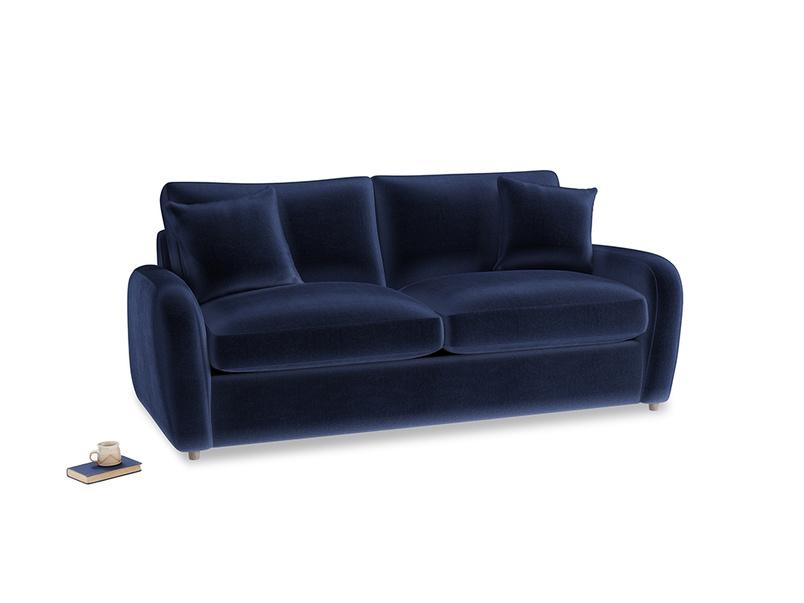 Medium Easy Squeeze Sofa Bed in Goodnight blue Clever Deep Velvet