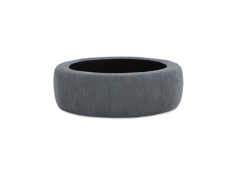 Pot Pie Upholstered Storage Footstool open