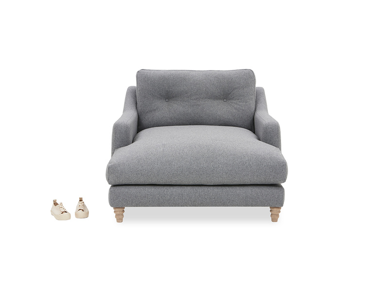 Slim Jim Upholstered Love Seat Chaise Front