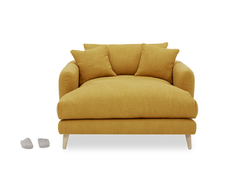 Squishmeister comfy Love Seat Chaise front