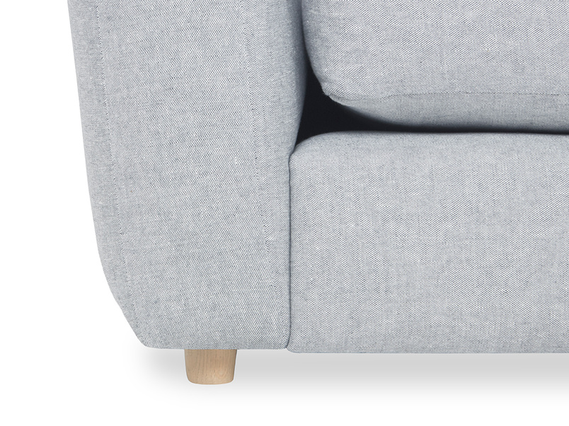 Easy Squeeze Comfy Chaise Sofa leg detail