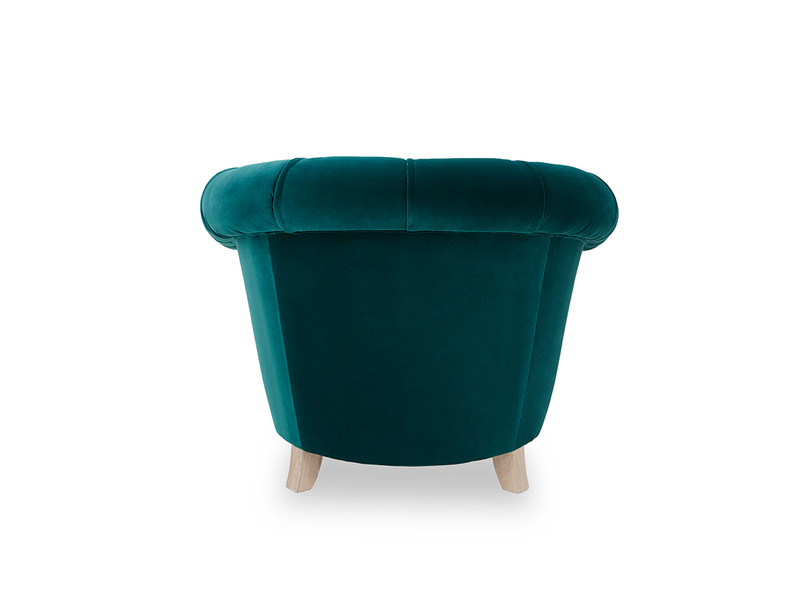 Tubbie occasional chair back