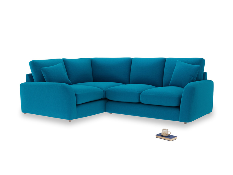 Large Left Hand Easy Squeeze Corner Sofa in Bermuda Brushed Cotton