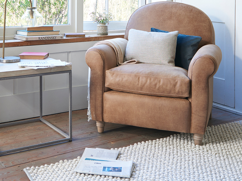 Club small upholstered armchair