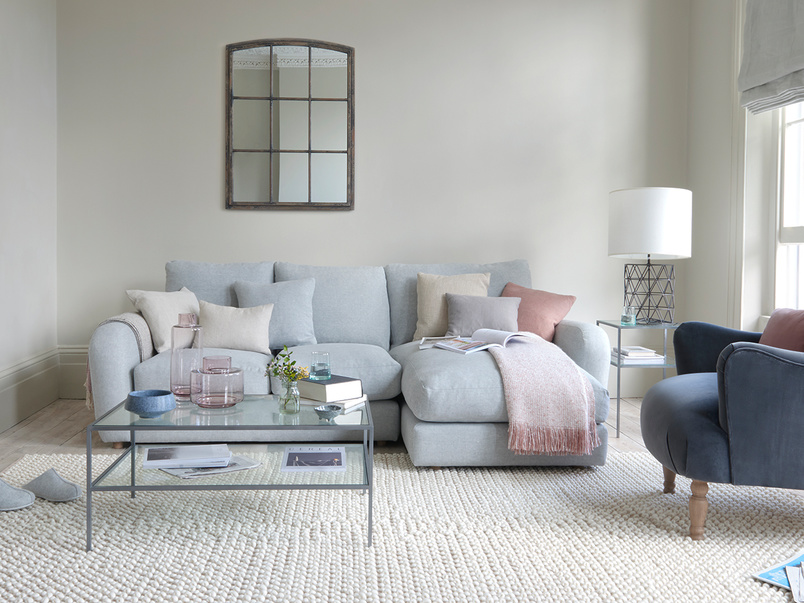 Easy Squeeze fabric chaise sofa
