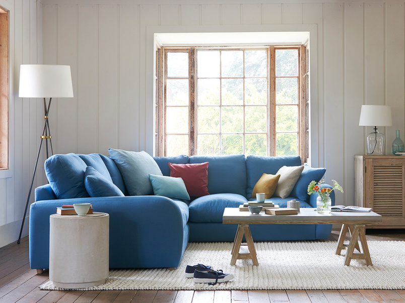 Easy Squeeze large comfy corner sofa
