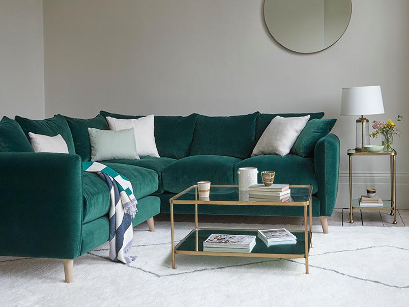 Squishmeister large modern corner sofa