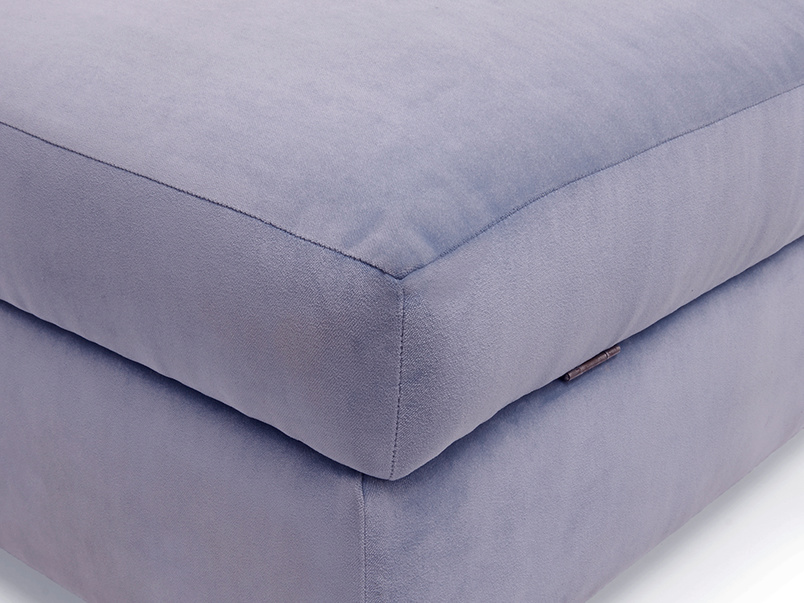 Beautiful Bumper handmade upholstered footstool with storage