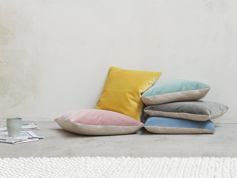 Classic Two Tone velvet contrast cushions