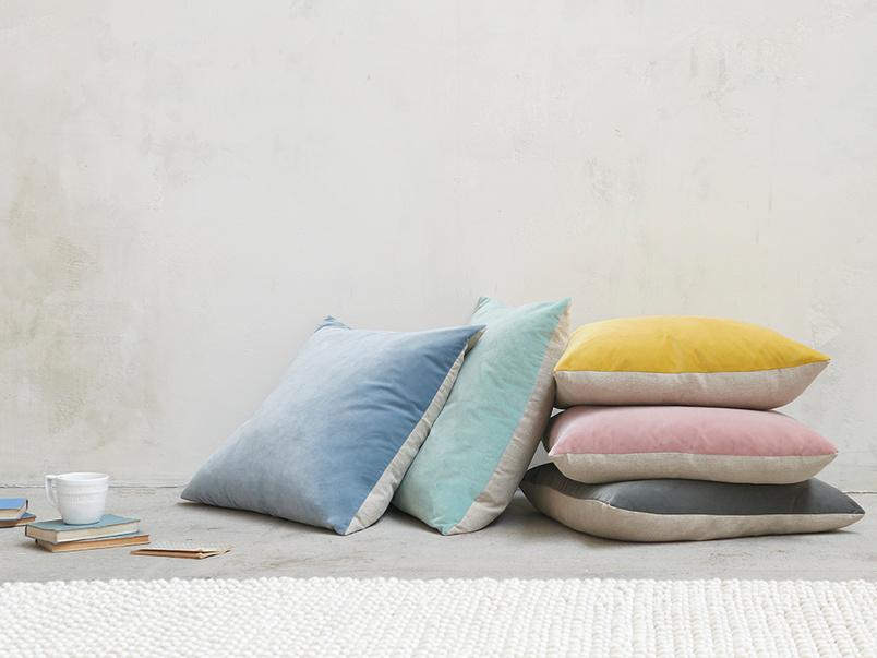 Jumbo Two Tone velvet contrast scatter cushions