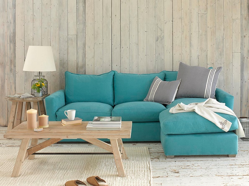 Pavilion Chaise sofa contemporary style L-shaped sofa handmade in Britain and extra comfy
