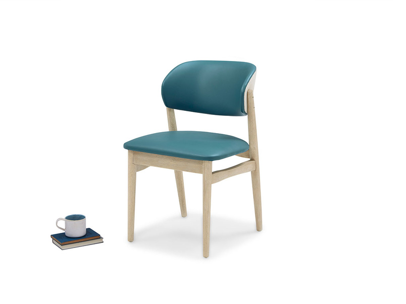 Popcorn In Teal kitchen chair