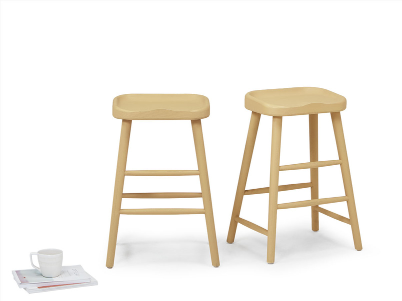 Pair of Bumble In Good Yellow kitchen stools