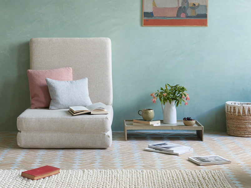 Multi Storey Linen Footstool Fold Out Mattress