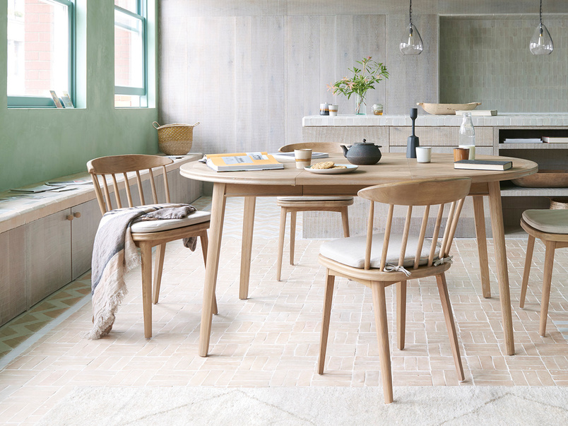 Parquet Pie Wooden Extendable Kitchen Table