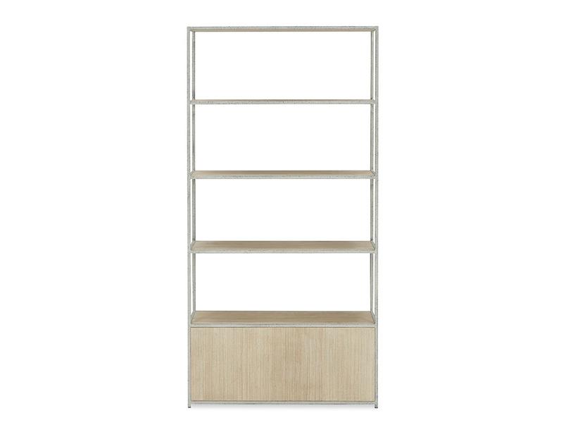 Tall Tim Wood and Metal Shelves Back