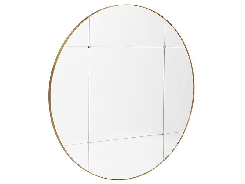 Woogie Round Sectional Wall Mirror Angle
