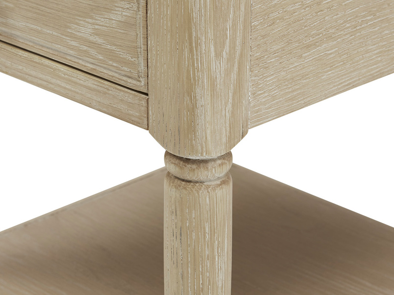 Albertine Bedside Table Wooden Carving Detail