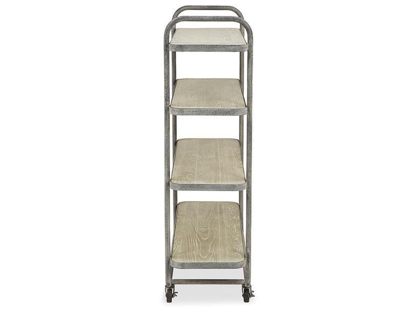 Busboy Industrial Style trolley shelves side