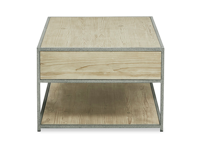 Coffee Tim Wooden Storage Coffee Table side