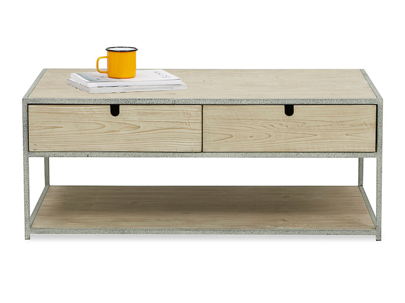 Coffee Tim storage coffee table with drawers